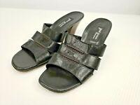 Women's Paul Green Black Leather Slide Sandals Size 6