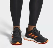 🔥$140 Mens ADIDAS RESPONSE TRAIL BOOST 12 black all-terrain terrex shoes orange