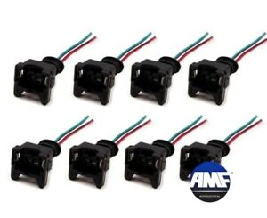 Set of 8 Injector Connector Pigtail for Ford Chevy GM Pontiac LS1 LS6 EV1 OBD1