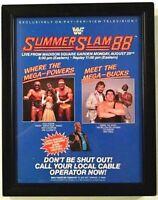 VTG WWF SUMMERSLAM 88 HOGAN MACHO FRAMED WRESTLING MAGAZINE POSTER PRINT AD WWE