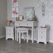 Grey bedroom furniture set pair of 3 drawer bedside chests dresing table set