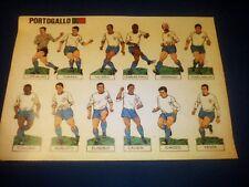 Figurine da ritagliare Corriere dei Piccoli Mondiali Calcio 1966 PORTOGALLO