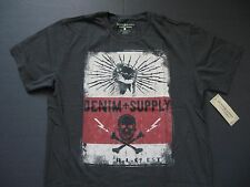DENIM & SUPPLY RALPH LAUREN Men's Skull and Lightning-Bolt Print T-Shirt XXL