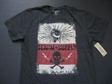 DENIM & SUPPLY RALPH LAUREN Men's Skull and Lightning-Bolt Print T-Shirt XL