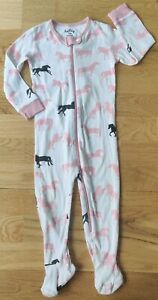 Hatley 18-24 months footed sleepsuit horses baby toddler zip girl organic cotton