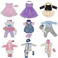 Lifelike Baby Dolls Romper Clothes Headdress for 22''-23'' Reborn Baby Girl Doll