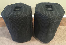 ALTO PRO BLACK 12 + DENON DELTA 12 Padded Black Covers (2)   Qty of 1 = 1 Pair!!