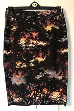 George Womens STUNNING Sunset Trees Print Bodycon Skirt - Size 12 -with Tags