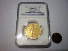 1850 COSTA RICA 4 ESCUDOS 4E CENTRAL AMERICAN DOLLARS RARE GOLD COIN 12.6 Grs