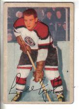 "1953-54 Parkhurst Hockey Card #72 Lidio ""Lee"" Fogolin Chicago Black Hawks VG."