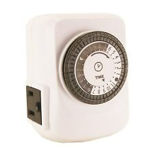 New 24 Hour Mechanical Indoor Timer w/ Ground Vacation 110 115 120V 15A  261*