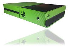 Textured Carbon Cannabis Rasta Skin For MICROSOFT XBOX ONE 1 Wrap Decal Cover