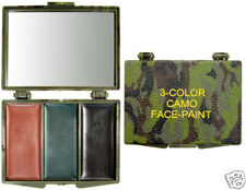Rothco 8200 Camouflage Face Paint Compact - 3 Woodland Camo Color-blk-olive-brwn