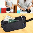 Travel Pouch Hidden Compact Security Money Passport ID Waist Belt Bag AB