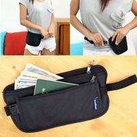 Travel Pouch Hidden Compact Security Money Passport ID Waist Belt Bag fc
