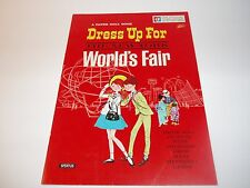 Vintage paper doll book/ Dress Up For the New York Worlds Fair 19