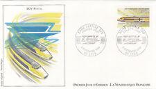 Enveloppe 1er Jour TRAIN LYON 08/09/1984 création du T.G.V. postal des. Forget