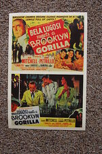 Brooklyn Gorilla Lobby Card Movie Poster Bela Lugosi Double poster