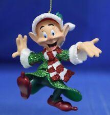 "Dopey in Green Glitter 3-1/4"" Christmas Ornament Snow White Disney Parks 2011"