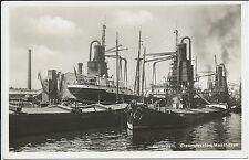 AK Fotokarte 1932 Rotterdam Graanelvators Maashaven EMMA
