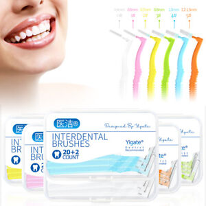 22pcs/pack TePe Angle Interdental Dental Tooth Brushes All sizes Brace Cleaner