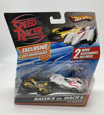 Mattel Hot Wheels Speed Racer X vs Mach 6 - 2 Pack Exclusive Wrecked Car 1:64