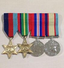 WW2 Full Size replica Swing Mounted Medal Set (with Bonus Pocket Holder)
