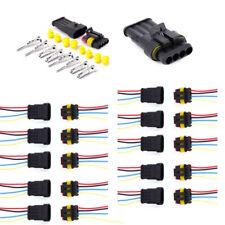 10x KFZ 4-Polig mit Kabel Steckverbinder AUTO Stecker Wasserdicht Verbinder