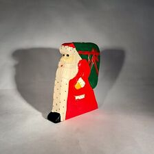 Primitive Folk Art Santa Claus Taper Candle Holder-6�