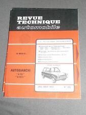 AUTOBIANCHI A 112 A112 E REVUE TECHNIQUE RTA N° 315 1972 + FIAT 850 125 + SPORT