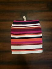 NWT Ann Taylor Stripped Fitted Skirt