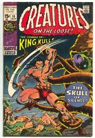 Creatures On The Loose 10 Marvel 1971 VG FN 1st King Kull Bernie Wrightson