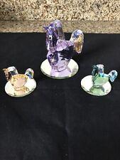 Swarovski Lovlot Horses Jasmine, Rosalie, Limited Edition 2011 Jade Figurines