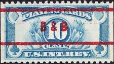 US - 1929 - 10 Cents Blue Playing Cards Revenue Issue # RF23 with B&B Cancel VF
