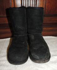 UGG Australia Classic Short Black Suede Boots, Women Size 6, W6