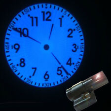 Modern LED 5Colors Projection Analog Clock Remote Control Wall Clock UK Plug