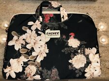 DACHEE SOFT PADDED LAPTOP BAG SATCHEL BLACK MULTI FLORAL PRINT GREAT CONDITION