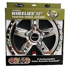 "2 Wheelies Wheel Horse Lawn Garden Tractor Wheel Covers Hub Caps for 12"" Tire"