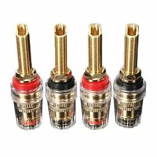 4x Speaker Terminal Binding Post Connectors Gold-plated banana plug ED