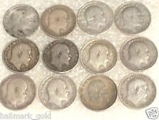 1899 to 1939 George & Edward VII  three pence coins