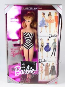 1994 Special Edition: 35th Anniversary 1959 Blonde Reproduction Barbie Doll