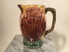 Antique Majolica Seashells Pitcher c1800's
