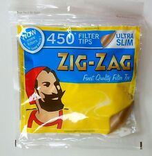 1x 2x 5x 10x ZIG ZAG ULTRA SLIM FILTER TIPS RESEALABLE BAG SMOKING JOB LOT BULK!