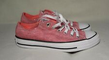 CONVERSE ALL STAR PINK / SILVER SHINY SNEAKERS WOMEN SIZE 8 / MEN SIZE 7 / UK 6