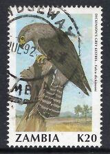ZAMBIA = 1990 Birds (2nd Series), K20 Dickinson`s Kestrel. SG636. Fine Used (d)