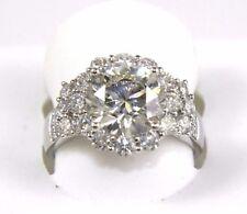 4.23ct Si1 Rund Schliff Diamant Solitaire Verlobungsring 14k Weiss Gold
