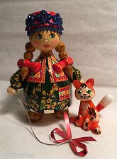 Russian Matryoshka Hand-Made Linden Wood Doll Medium #17