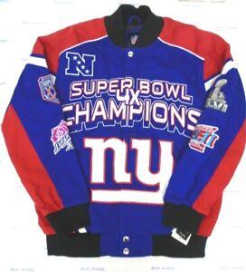 New York Giants Men's GIII Large Super Bowl Stiff Arm Cotton Twill Jacket 036