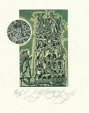 Exlibris Etching Bookmark: Sustov