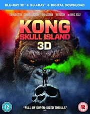 Kong - Skull Island [Blu-ray 3D + Blu-ray + Digital Download] [2017] New Sealed